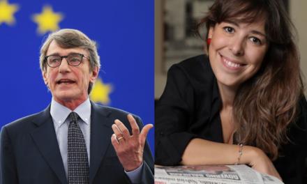 Agnese Pini e David Sassoli al Meeting dei Giornalisti