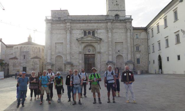 In pellegrinaggio a piedi a San Gabriele