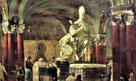 Il gruppo scultoreo di Sant'Emidio che battezza Polisia